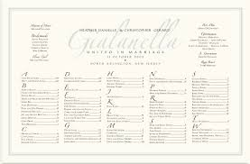 seating chart for wedding reception imperial zapfino monogram wedding seating charts wedding