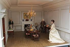 georgian dolls house interior view of dining room
