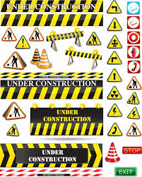 Templates For Signs Free Traffic Construction Signs Templates Modern Flat 3d Shapes