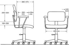 office chair drawing. innovative office chair dimensions andifurniture drawing