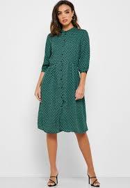 Jacqueline De Yong Size Chart Printed Shirt Dress