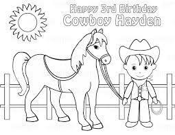 Cowboys Coloring Pages Great Additional Book Western Horse Free