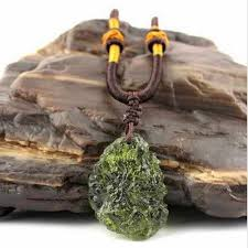 hot a natural moldavite green aerolites crystal stone pendant energy apotropaic4g 6g lot