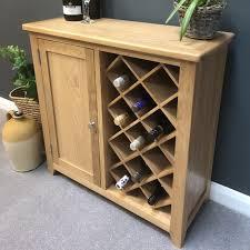 wine rack cabinet. Newark Oak Wine Cabinet Rack