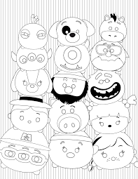 Tsum Tsum Stack Coloring Page Disney Games Singapore