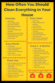 Cleaning Schedules Checklists Daily Weekly Monthly