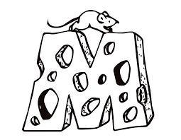 Small Picture Printable Letter M Cheese and Mouse coloring page from