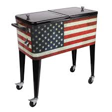 old glory rolling ice chest
