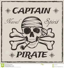 иллюстрация Grunge эскиза вектора черепа и кости капитана пирата