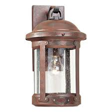 sea gull lighting 8440 44 outdoor sconce weathered copper