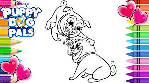 Bingo And Rolly Tug Of War Coloring Page Puppy Dog Pals Coloring