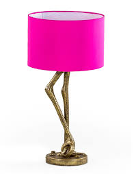 flamingo legs table lamp hot pink antique gold effect with usb charging port lamps home depot leaf abri