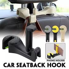<b>2 IN 1 Universal</b> Car Hook Mobile Phone Holder Bracket Auto ...