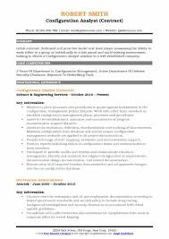 Security Clearance Resumes Configuration Analyst Resume Samples Qwikresume