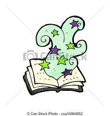cartoon magic spell book csp14864852