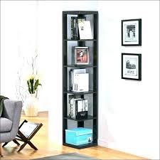 narrow corner shelf tall bookshelf bookcase with doors thumbnail bookshelves oak shelves unit book