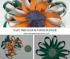 Paper Flower Craft Ideas Easy Tricolour Paper Flower Republic Day And Independence
