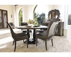 Oak Round Dining Table And Chairs Bernhardt Belgian Oak 5pc Round Dining Room Set With Sleigh Back