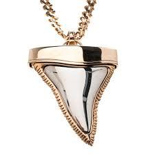 givenchy shark tooth pendant gold tone chain necklace nextprev prevnext