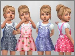 set of 4 toddler dresses for everyday wear found in tsr sims 4 toddler female
