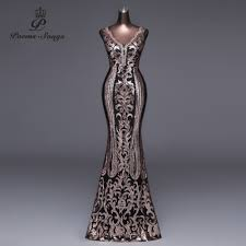Poems Songs <b>2019</b> New Double V Long Evening Dress <b>vestido de</b> ...