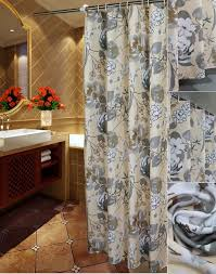 elegant gray ivory fl luxury shower curtains