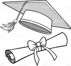 best graduation cap and diploma illustration vector library