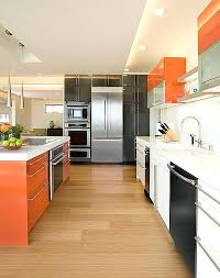 color combinations for kitchens view in gallery kitchen cabinet color scheme that brings together orange white