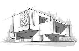 Architectural Building Sketches
