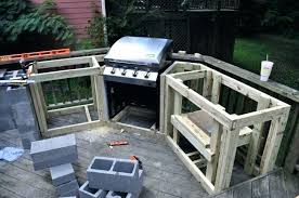 how to build a island with cinder block outdoor kitchen your own grill stand
