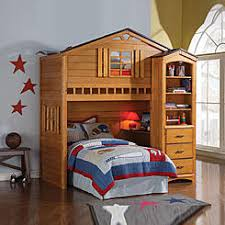 wood bunk bed with desk. Acme Furniture Kids Fun Tree House Rustic Oak Wood Twin Loft Bunk Bed With Desk Bookshelf