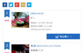 Dinosaur Debuts At The Top Of Oricon Daily Chart Off The
