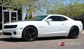 20 inch Staggered Drag DR-64 All Matte Black on 2012 Chevy Camaro ...