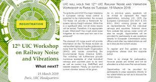 12th Uic Workshop On Railway Noise Vibrations Uic