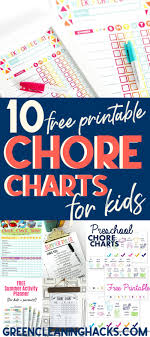 Imom Chore Chart 10 Best Free Printable Chore Charts For Kids Green