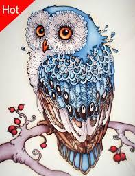 Owl Cross Stitch Pattern Beauteous 48D Diamond Embroidery Owl Diamond Mosaic Resin Home Decor 48D Diamond