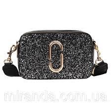 Сумка женская Camera Bag с блестками и текстильным ...