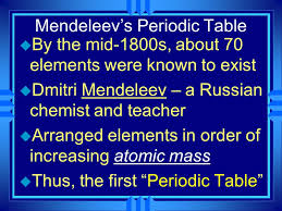 "The Periodic Table"". Organizing the Elements u A few elements ..."