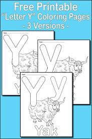 Small Picture Letter Y Alphabet Coloring Pages 3 FREE Printable Versions