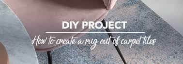 diy project how to make a rug out of carpet tiles