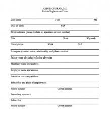 medical patient registration form registration form john r curran md
