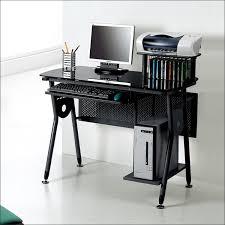 black metal and glass computer desk with cd racks mdtst f1073cd larger image black metal computer desk