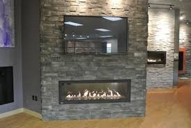 linear gas fireplace. Napoleon LHD62 Linear Gas Fireplace, Dutch Quality Ashen Drystack Stone Fireplace