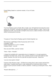 Verso Light For Kindle
