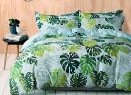 Designer 60S Brocade Fresh Tropical Green Leaves Print Egyptian ... & 65 Designer 60S Brocade Fresh Tropical Green Leaves Print Egyptian Cotton  4-Piece Bedding Sets Adamdwight.com