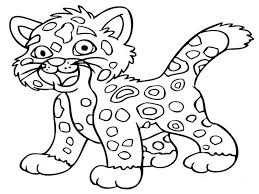 Small Picture coloringpages of animals Jaguar Animal Coloring Pages