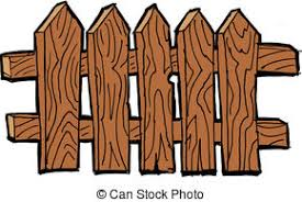 fences clip art. Simple Art Old Fence  Wooden On The White Background Throughout Fences Clip Art