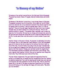 essay in english on essay on my mother in english