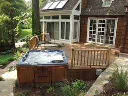 Fine Patio Ideas With Hot Tub You Like Tubs On A Deck Or In Modern