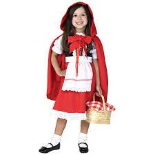 Deluxe Little Red Riding Hood Costume For Girls Kids Halloween Costume